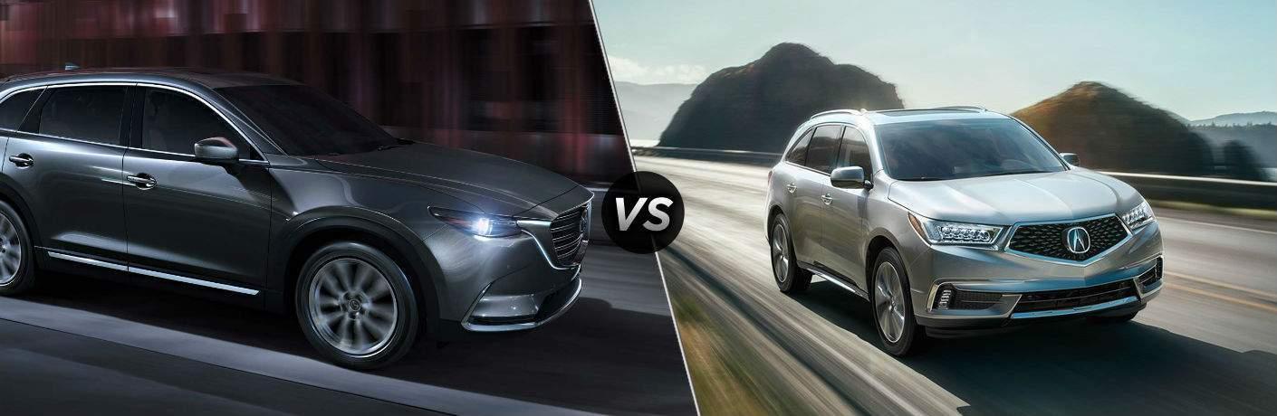 2018 Maxda CX-9 vs 2018 Acura MDX
