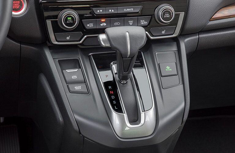 Closeup of gear shift in 2019 Honda CR-V
