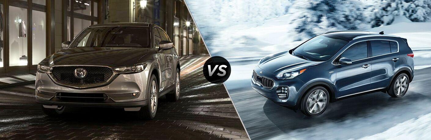 A side-by-side comparison of the 2019 Mazda CX-5 vs. 2019 Kia Sportage.