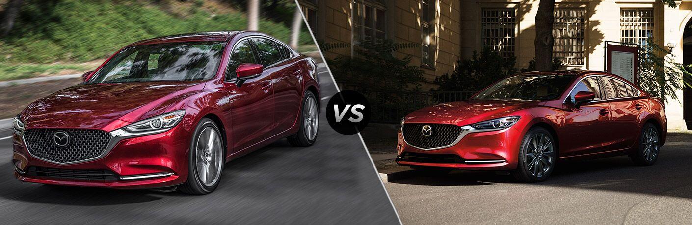 A side-by-side comparison of the 2019 Mazda6 vs. 2018 Mazda6.