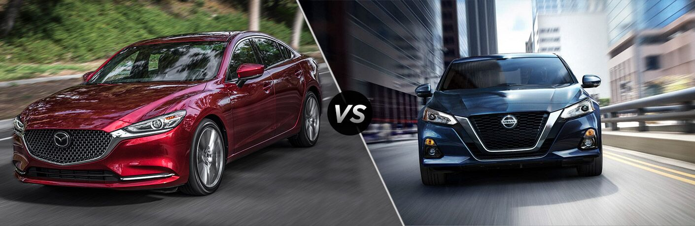 A side-by-side comparison of the 2019 Mazda6 vs. 2019 Nissan Altima.