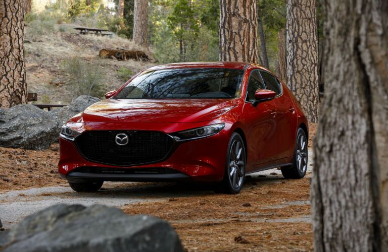 A front-end photo of the 2019 Mazda3 Hatchback.