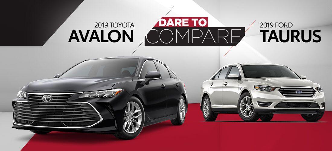 2019 Toyota Avalon vs 2019 Ford Taurus | Bert Ogden Toyota | Harlingen, TX