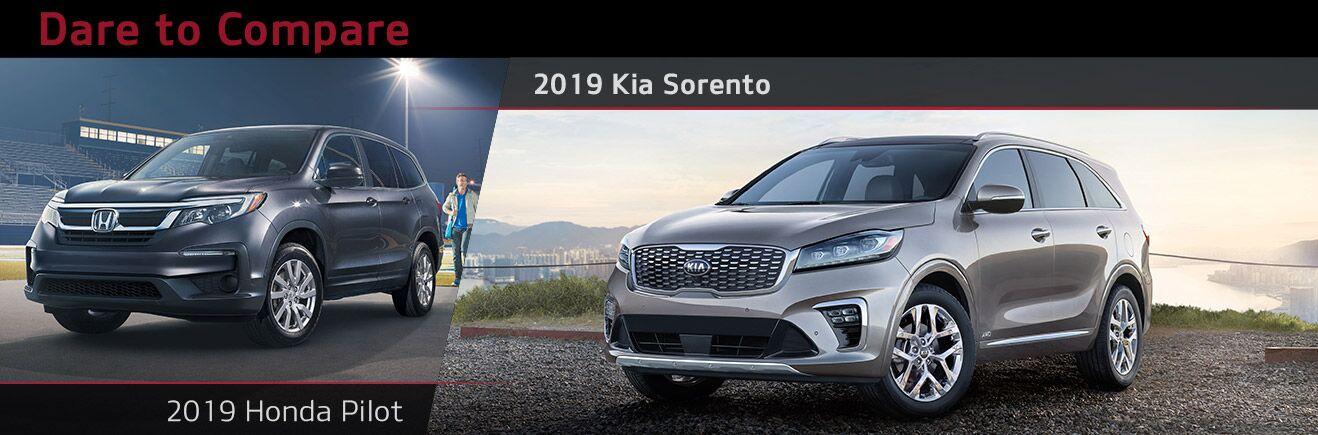 2019 Kia Sorento vs Honda Pilot | Bert Ogden Mission Kia