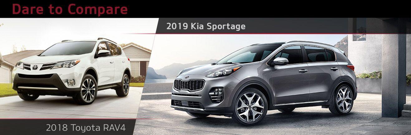 2019 Kia Sportage Vs Toyota Rav4 Bert Ogden Mission Kia