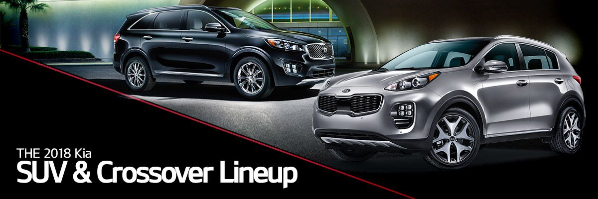 The 2018 KIA SUV and Crossover lineup at Bert Ogden Harlingen KIA