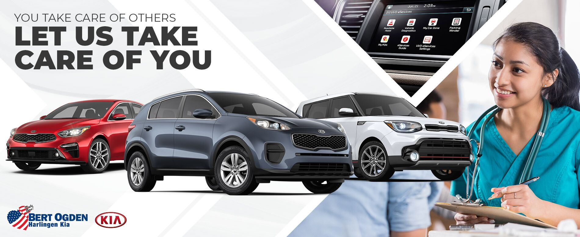 Vehicles for Medical Professionals | Bert Ogden Harlingen Kia | Harlingen, TX