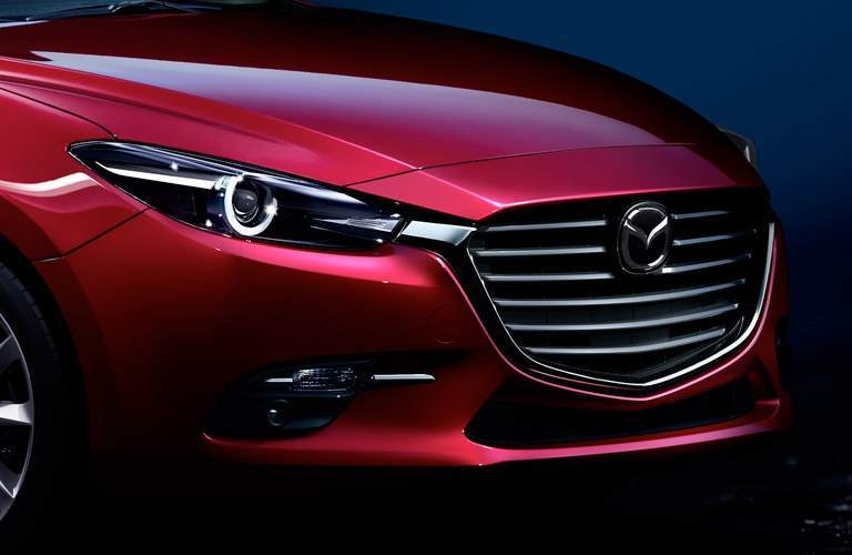 2017 Mazda3 sedan front grille and fascia