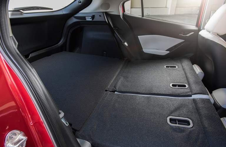 2017 Mazda3 hatchback rear cargo space