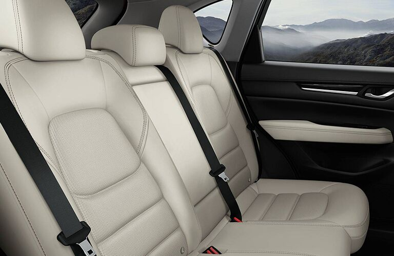 2018 Mazda CX-5 interior back cabin seats with mountains in the window