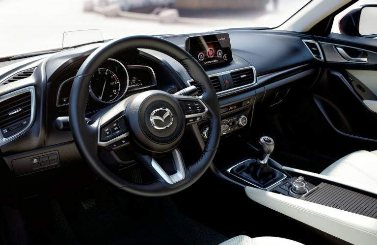 2018 Mazda3 5-Door dashboard view