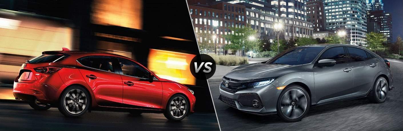 2018 Mazda3 5-Door vs 2018 Honda Civic Hatchback & 2018 Mazda3 5-Door vs 2018 Honda Civic Hatchback | Vic Bailey