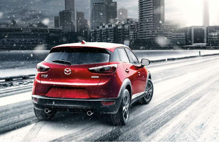 2018 Mazda CX-3 driving in snow