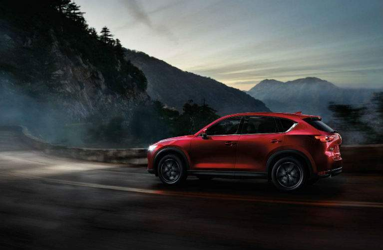 2018 Mazda CX-5 driving at night with High Beam Control