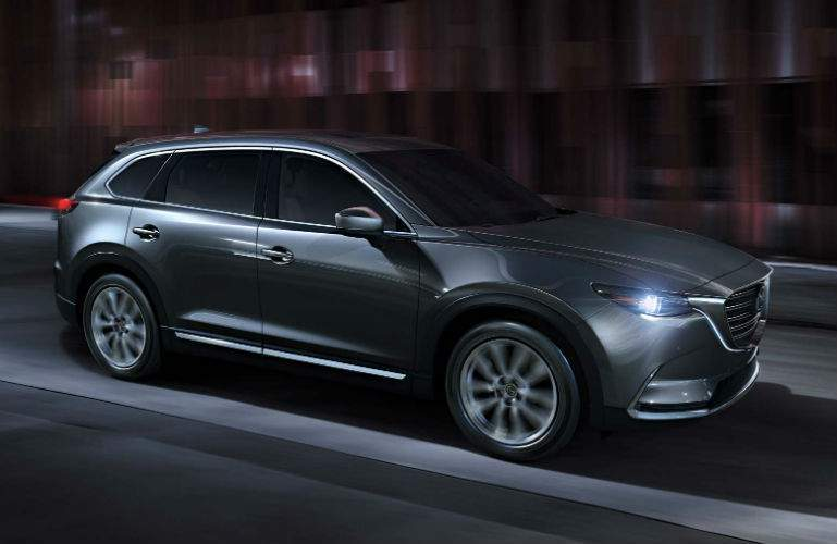 2018 Mazda CX-9 driving in the dark