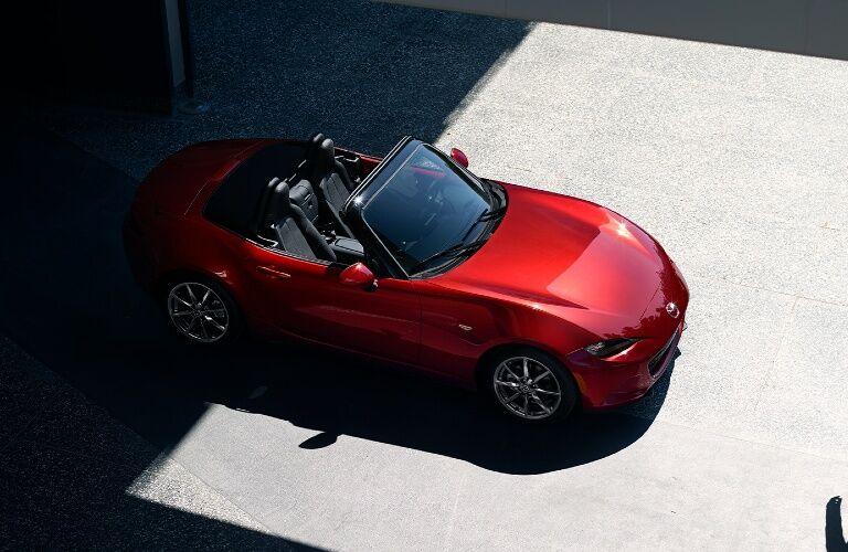 2020 Mazda MX-5 Miata overhead view