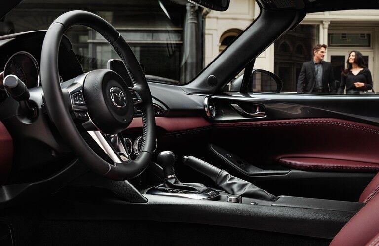 2020 Mazda MX-5 Miata RF steering wheel and front seats