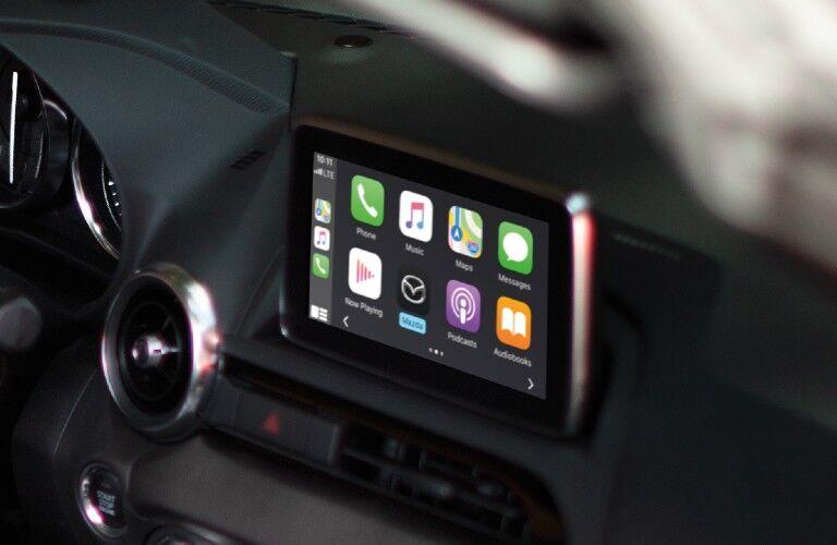 2020 Mazda MX-5 Miata RF touchscreen display