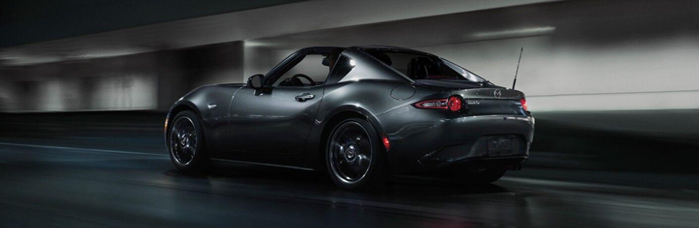 2020 Mazda MX-5 Miata RF driving on a road