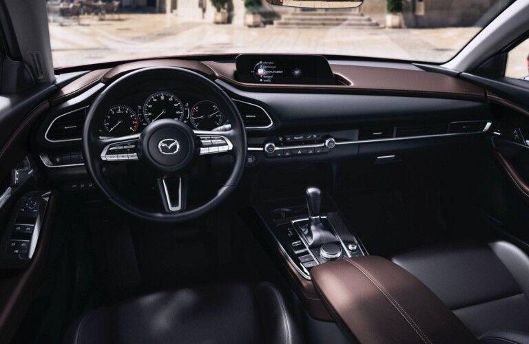 2021 Mazda CX-30 dashboard and steering wheel