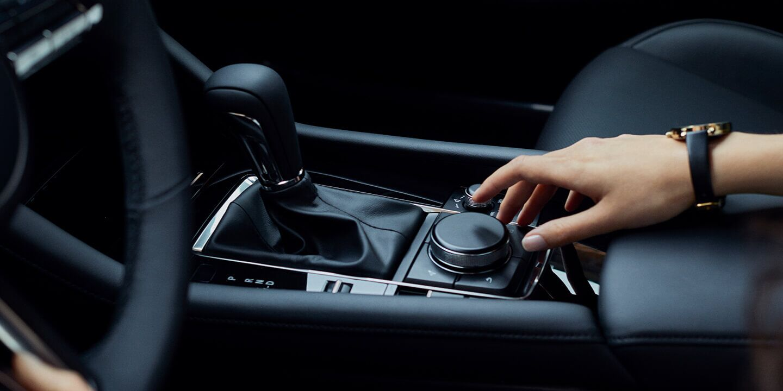 Adjusting traction control inside 2019 Mazda3