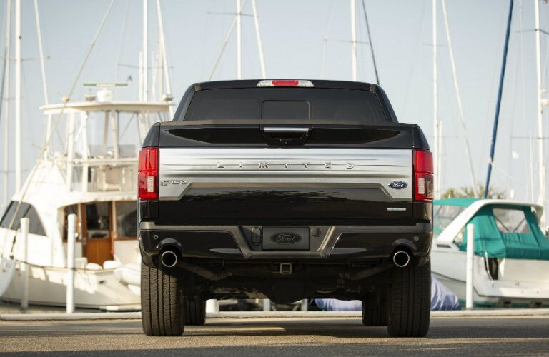 rear view of 2019 Ford F-150 Limited parked near a marina