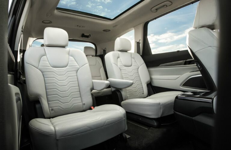 2020 Kia Telluride interior captain's chairs