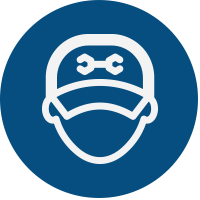Blue Service Person Icon