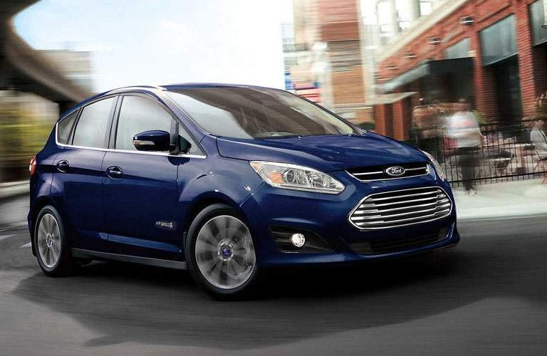 blue ford c-max in city