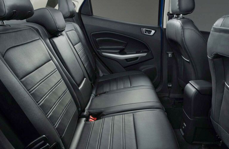 Second row of leather seats inside 2018 Ford EcoSport