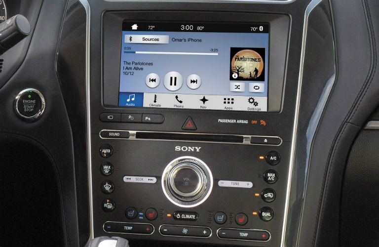 2018 Ford Explorer infotainment system close-up