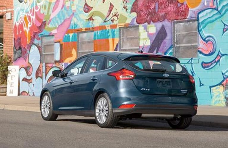 2019 Ford Focus by a graffiti wall