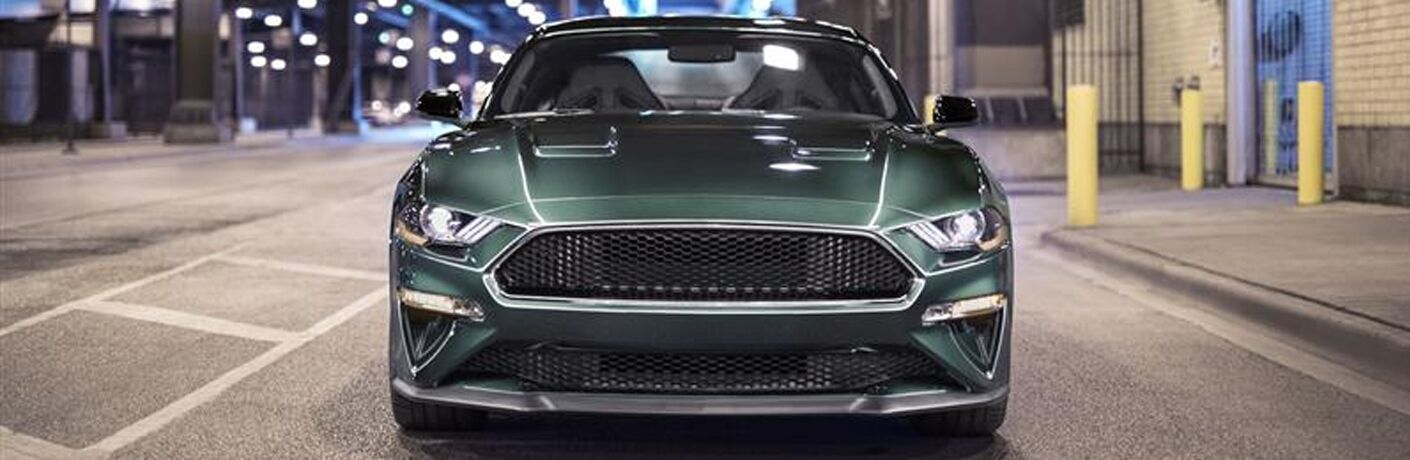 2019 Ford Mustang close up front grille