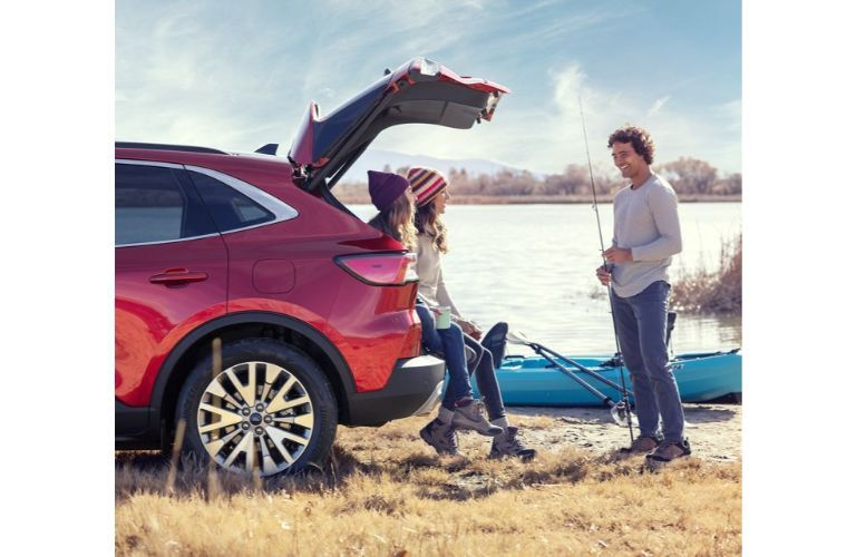 2020 Ford Escape with a family going fishing