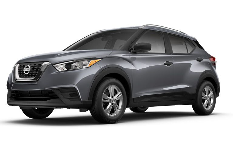 front of the 2018 Nissan Kicks S on a white background