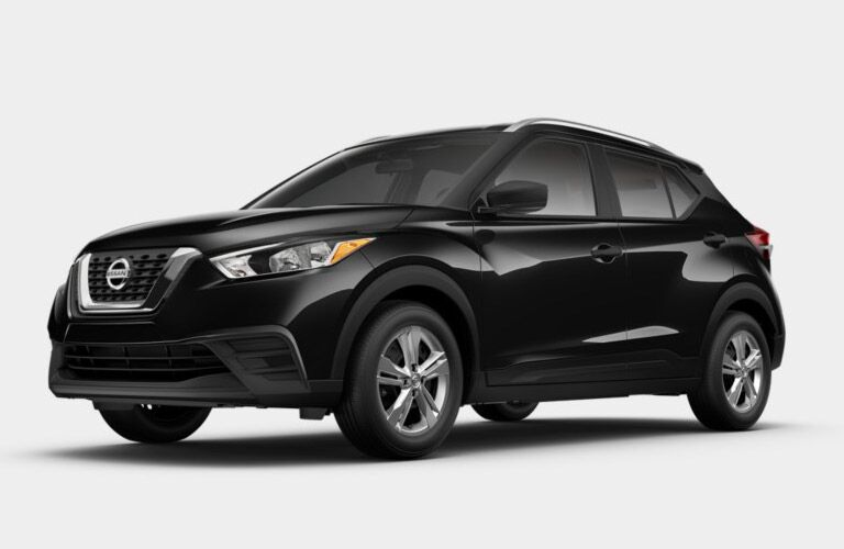 front of the 2018 Nissan Kicks SV on a grey background