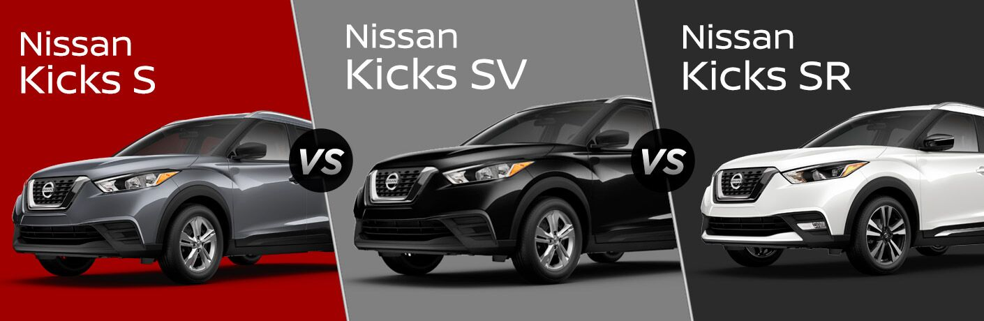 2018 Nissan Kicks S vs SV vs SR Trim Comparison