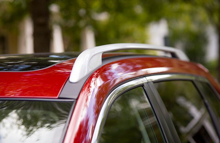 Close Up of Red 2019 Nissan Rogue Roof Rails