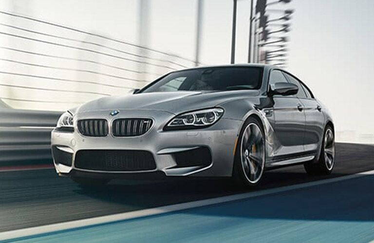 BMW M6 silver side front view