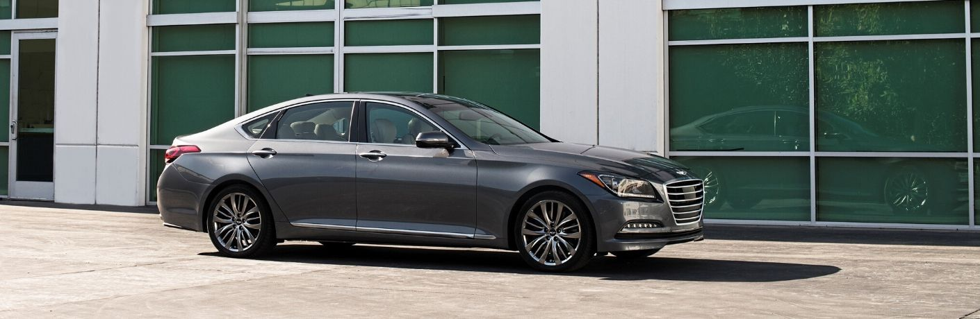2016 Hyundai Genesis parked near windows