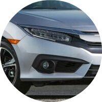 2018 Honda Civic headlight closeup