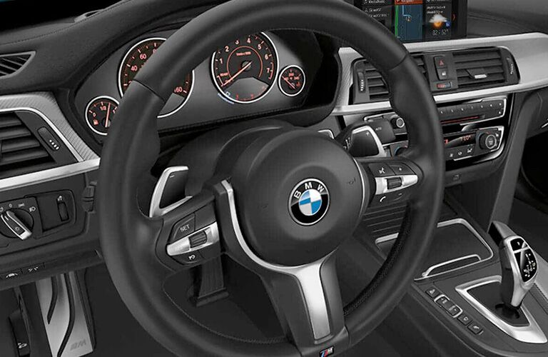 2019 BMW 4 Series steering wheel and center stack