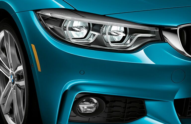 2019 BMW 4 Series headlight closeup