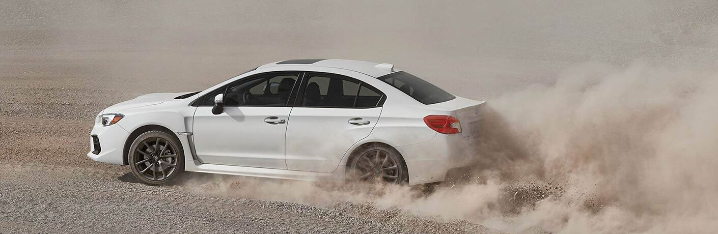 2019 Subaru WRX kicking up dirt