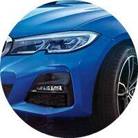 2019 BMW 3 Series headlight closeup