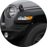 2019 Jeep Wrangler headlight and foglight