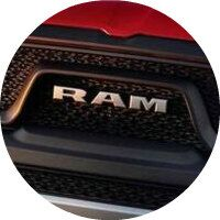 2019 Ram 1500 front grille close up