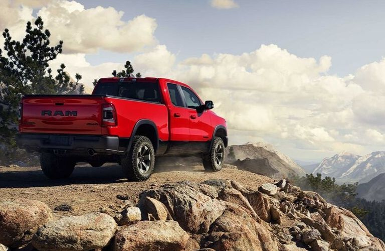 2019 Ram 1500 overlooking a mountainous landscape