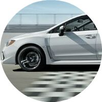 2019 Subaru WRX crossing finish line
