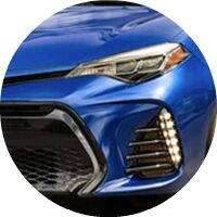 2019 Toyota Corolla headlight and grille closeup